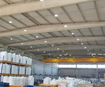 Klemsan İzmir fabrika led aydınlatma